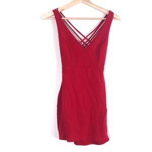 Joe & Elle Red Strappy Bodycon Dress